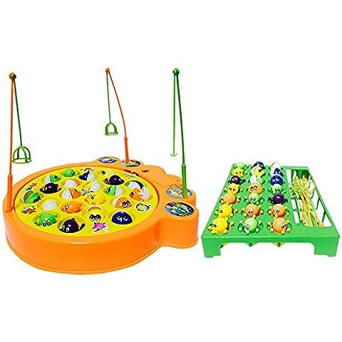 Juegos de Pesca Electrónico Musical Juguete Familia Educativo con 21 Pulpo y Peces para Niños Niñas 3 4 5 Años , Grandes
