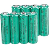 8Pcs TangsFire AA 3300mAh 1.2V Rechargeable Ni-MH Battery Green