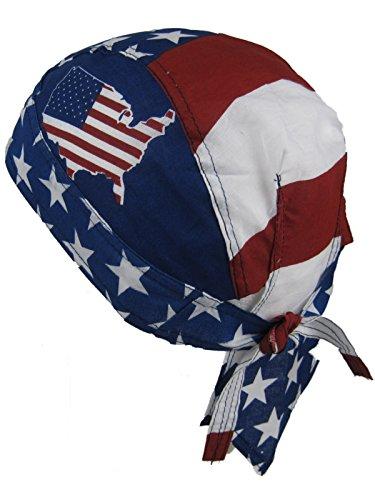 Bandana im Stil der USA-Flaggen-Karte - Flagge Hut