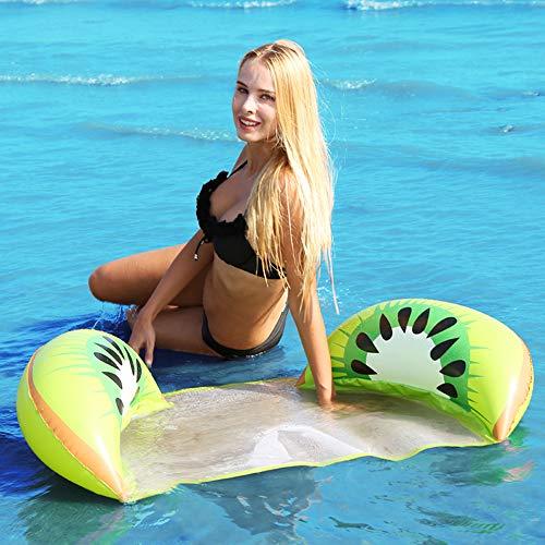 Schwimmendes Bett, Verbesserte Sommerluft Sofa Wasser Hängematten Ruhesessel Floss Matten im Freien, Erwachsene Swimmingpool Strand Entspannende Pool Partei (Kiwi) ()