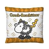 Sheepworld 43291 Plüsch-Kissen mit Motiv Couch-Beschützer, kleines Zier-Kissen, 25 cm x 25 cm