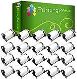20x Versand-Etiketten kompatibel für Brother DK-11240 102mm x 51mm (600 Stück/Rolle) P-Touch QL-1050, QL-1060N, Thermopapier mit Kunststoffhalter