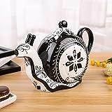 Artvigor Porzellan Kaffeekanne, Handbemalt Teekanne 1,2 L, Schnecke Deko, Geschenk