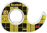 Scotch CAT136 - Cinta adhesiva de doble cara con dispensador (12,7 mm x 3,6 m), color transparente [Importado]