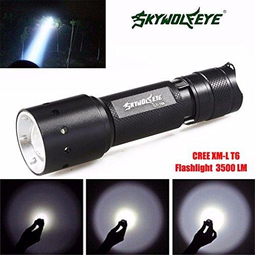 Taschenlampen Sourpa Nützliche Zoomable 3500 Lumen 3 Modi CREE XML T6 LED Taschenlampe Licht für Outdoor