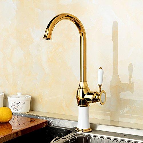 Monomando Grifo de Cocina Agua Fría Y Caliente Grifos para fregadero Extraible 360°rotación