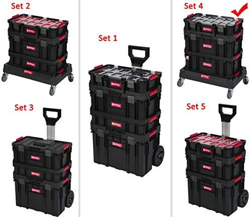 """XL Werkzeugtrolley, Werkstattkoffer Set, Werkstattwagen Set aus\""""Q-Brick\"""" Serie mit viel Zubehör! B x T x H in cm: 60 x 40 x 82 cm ! Der mobile Alleskönner - Privat & Gewerbe (Set 4)"""