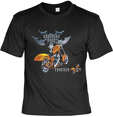 Art & Detail Shirt Bike Motiv Tshirt Choppers Rule Forever Fb schwarz Größe XXL -