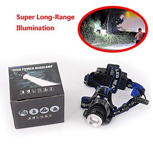 SXPOT Linterna para la Cabeza Frontal LED Batería Duradera con Zoom de iluminación de Gran Alcance