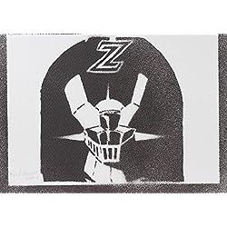 Poster Robot Mazinger Z Hecho A Mano - Handmade Street Art
