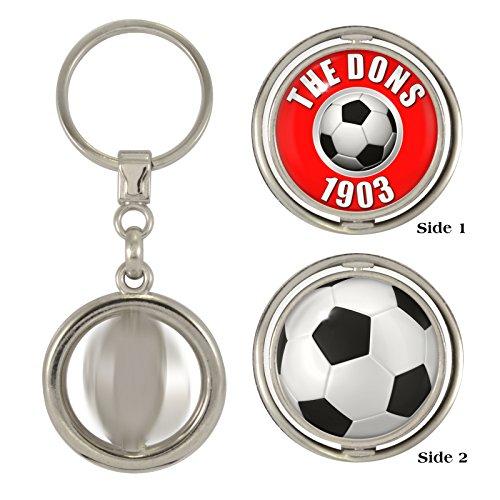 The Dons 1903 & Football 2-Sided Spinner Keyring