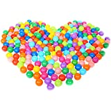 NUOLUX 100 Stück Bälle für Kinder Bällebad Plastikbälle Babybälle Bunt