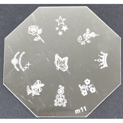 Nail Art emboutissage des tôles - M01 CODE : M11-plaque