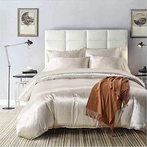SHJIA Satin Seide Bettbezug Set Größe Set Moderne Bettwäsche Orientalische Bettbezüge Bettgarnitur E 220x230cm (Verkauf Preis Faultier Für)