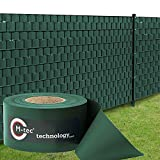 Sichtschutzstreifen | PVC | M-Tec matt EXKLUSIV 35m - 9,5cm ✔ moosgrün ✔ einseitig matt ✔ | - Nach M-Tec Technology Rezeptur Hergestellt -
