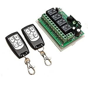 12V 4CH canal 315 Mhz Wireless Switch Remote Control Avec 2 transimitter