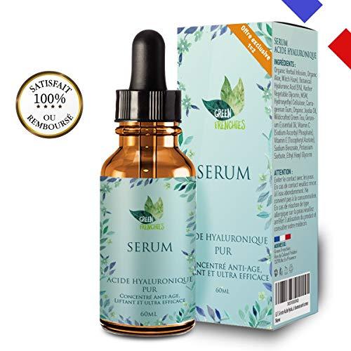 G.F. Sérum Acide Hyaluronique Pur, 60ML Sérum Anti-âge concentré plus puissant 1=2 Anti-Age + Hydratation, Traitement Anti-rides Visage, Elixir Jeunesse anti cernes