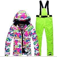 Jiuyizhe Chaqueta de esquí de Invierno cálido Impermeable Impermeable a Prueba de Viento Mountain Mountain Suit (Color : 05, Size : XL)