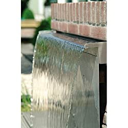 Cascada de acero inoxidable (30cm) - Suministro de agua por la parte trasera
