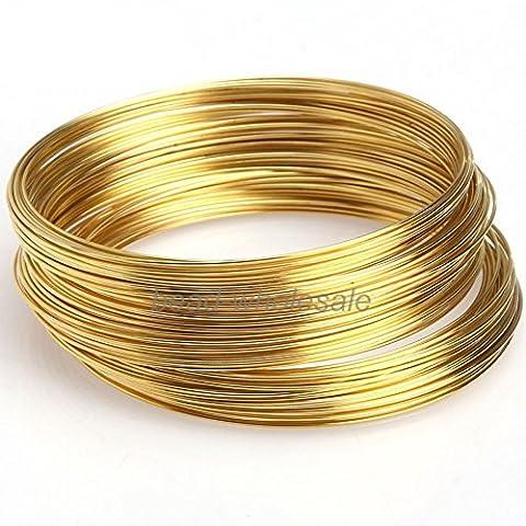 ILOVEDIY 100 boucles en or Fils à mémoire pour la fabrication de bijoux Bracelets 55 mm