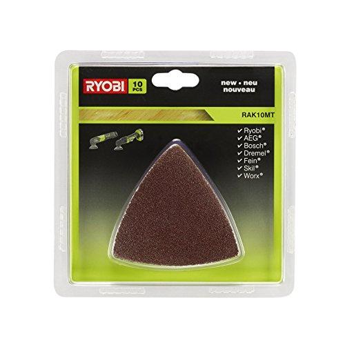 Ryobi RAK10MT - Lote de papel de lija multiherramienta (10 unidades)