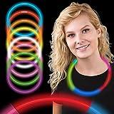 50 Collares luminosos glow pack tricolor ENTREGA 1-3 DÍAS