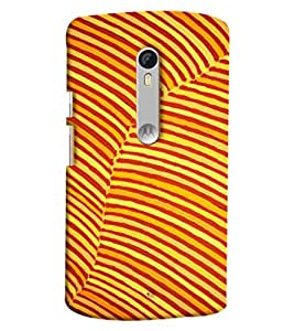 Blue Throat Yellow Stripes Hard Plastic Printed Back Cover/Case For Moto X Style