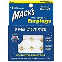 Mack's, Ohrstöpsel, kissenweich, formbar, aus Silikon, weiß, 2 Stück preisvergleich bei billige-tabletten.eu