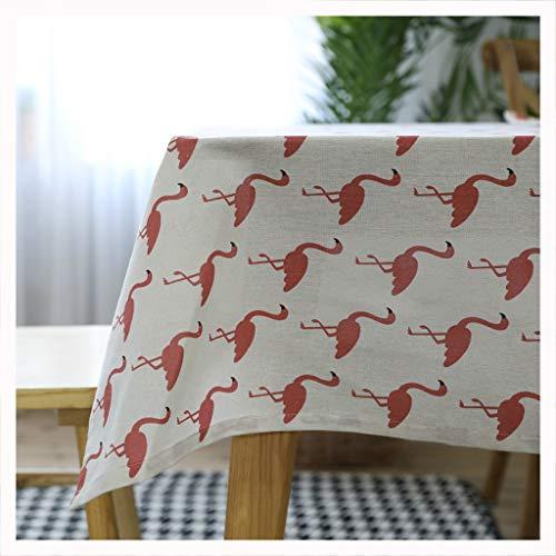 DUOMING Flacheo-Flamingotischdecke der europäischen Art der Tischdecke europäischen Tisch des einfachen einfachen modernen Restaurants Tischdecken (größe : 100cm*140cm)