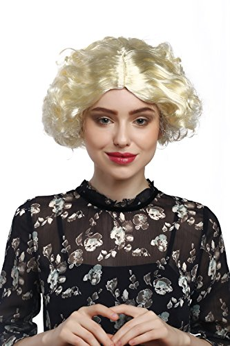 WIG ME UP    - 90944-ZA615 Lady Party Wig Halloween Fancy Dress 20s 30s Fashion Charleston Swing Chicago middle parting blond