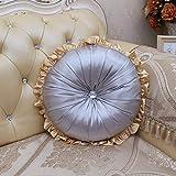 OYBB Ornaments CushionsPillows Hochwertiges europäisches Ledersofa mit rundem Kissen rundem Kissen Tasche Kissen Auto Rücken 45 * 45cm, A