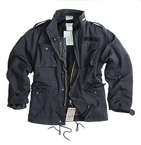 Chaqueta parka de US Vintage 2-en-1 con forro y capucha para protección contra el viento de otoño de lavado a la piedra verde, negro o unidades