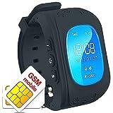 Montre Bracelet Intelligente Traqueur GPS Téléphone SOS Anti-perte pour Enfants Contrôle par Smartphone iPhone iOS Android