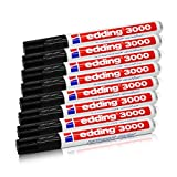 Edding Permanentmarker 3000, schwarz, 1,5-3 mm, nachfüllbar, 8er-Pack