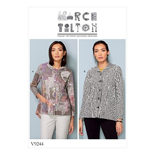 Vogue Patterns Patrons de Veste, Multicolore, Tailles 14-22