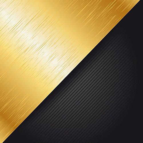 Apple iPhone SE Case Skin Sticker aus Vinyl-Folie Aufkleber Metall Look Schwarz Gold DesignSkins® glänzend
