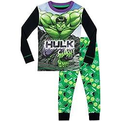 Marvel - Pijama superhéroes para Niños - El Increible Hulk - Ajuste Ceñido - 4-5 Años