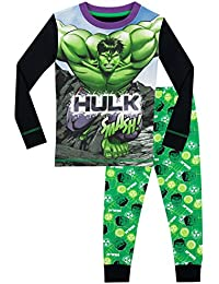 Marvel Boys The Incredible Hulk Pyjamas - Snuggle Fit - Ages 2 To 12 Years