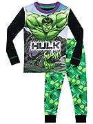 Pigiama dell'Incredibile Hulk per bambini. Andare a letto sarà un momento di distruzione per il tuo piccolo aspirante eroe grazie a questo vivace PJs di Hulk! Composto da una maglia a maniche lunghe caratterizzata da una stampa dell'adorato A...