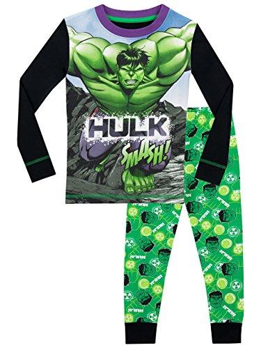 Marvel - Pijama para Niños - El Increible Hulk - Ajuste Ceñido - 3 - 4 Años