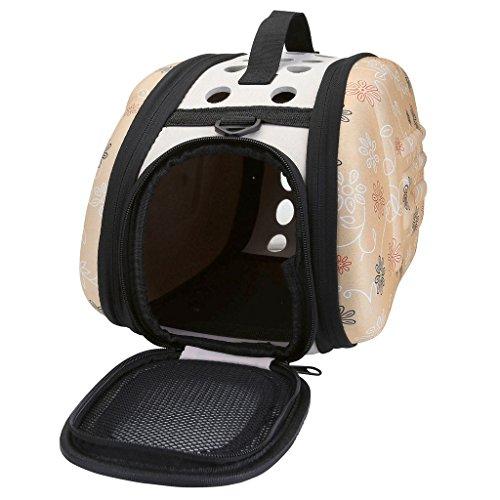 mogoko faltbar Pet Travel Carrier, Comfort EVA Tragbare faltbare Pet Tasche Airline genehmigt Travel Tote Weiche Tasche für kleine Hunde Katze und andere Haustiere