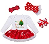 DecStore Baby Mädchen Mein erster Weihnachtskostüm Party Kleid Tutu...
