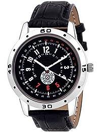 ISmart Analog Black Dial Black Leather Belt New Collection Men's & Boy's Watch