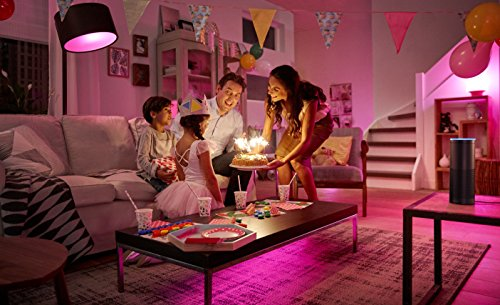 Philips Hue LED Lampe E27 Starter Set inklusive Bridge, 3. Generation, 3-er Set, dimmbar, 16 Mio Farben, app-gesteuert - 6