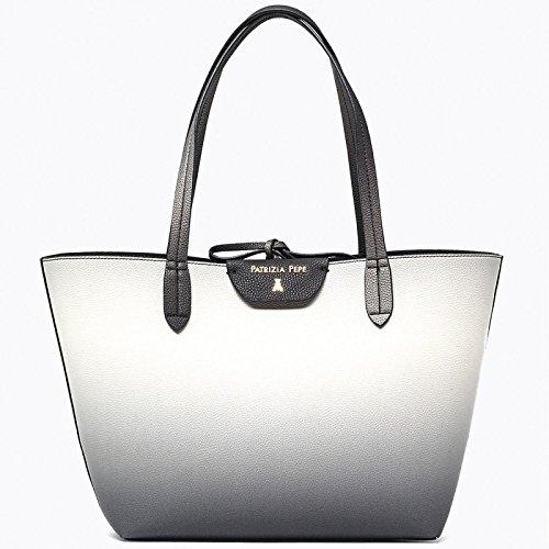 Borsa shopping reversibile nera bianca degradè Patrizia Pepe