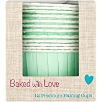 Baked With Love Aqua Baking Cups, Pack of 6