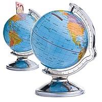 Questo ssalvadanaio a forma di mappamondo vi permette di sognare la vostra prossima vacanza.