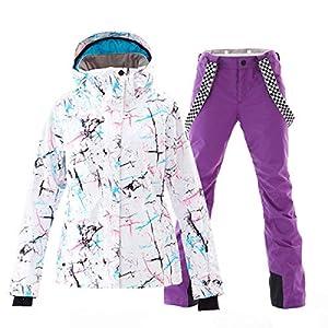 XYQY Ski Anzug Frauen Ski Anzug Skijacke Hose Winddichte wasserdichtOutdoor Sport tragen Super Warm Kleidung Hose Winter weiblich
