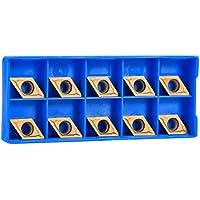 Insertos CNC, insertos de puntas de carburo CNC Nimoa Herramienta de torneado de torno de cuchilla con caja, 10 piezas