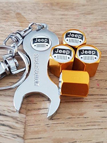 jeep-weissen-top-gold-ventil-staub-radkappen-ventilkappen-mit-schwarzen-schlussel-schlusselanhanger-